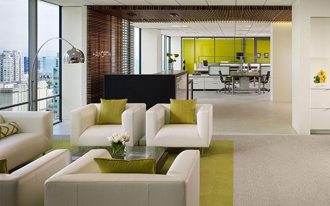 arquitectura modular y muebles para oficina modernos